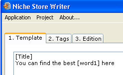 Niche Store Writer - Step 1: Template